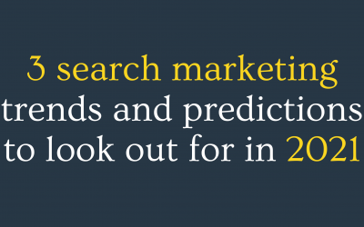 Search marketing trends 2021
